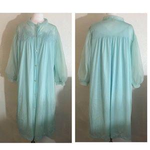Texsheen Vintage Size 38 Powder Blue Robe